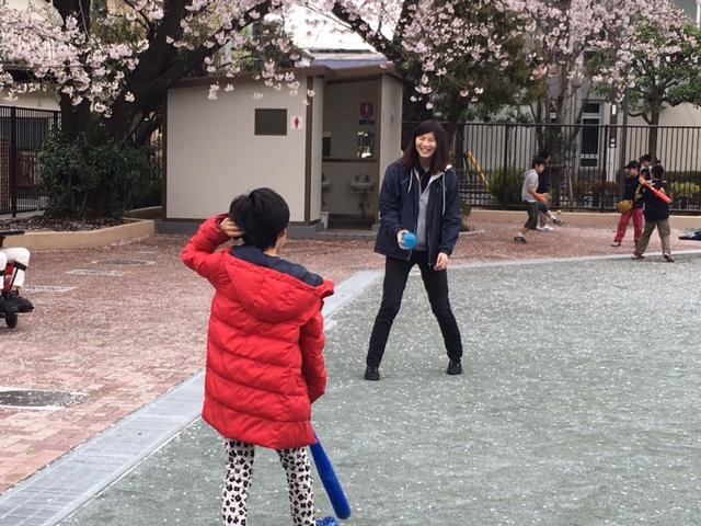 お花見野球
